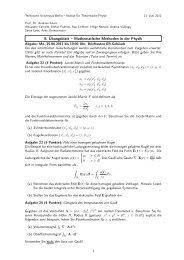 8. Übungsblatt – Mathematische Methoden in der Physik - Institut für ...