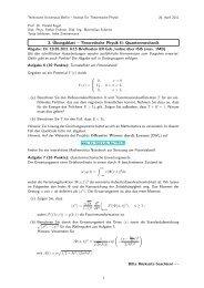 3. Übungsblatt – Theoretische Physik II: Quantenmechanik