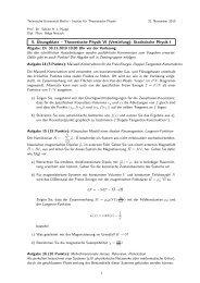5. Übungsblatt – Theoretische Physik VI (Vertiefung): Statistische ...
