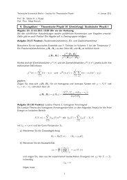 9. Übungsblatt – Theoretische Physik VI (Vertiefung): Statistische ...