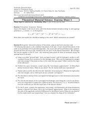 Exercise Sheet 3 - Institut für Theoretische Physik - TU Berlin