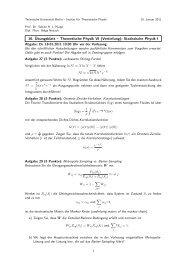10. Übungsblatt – Theoretische Physik VI (Vertiefung): Statistische ...