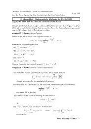 Übung 8 (PDF, 71,3 KB) - Institut für Theoretische Physik