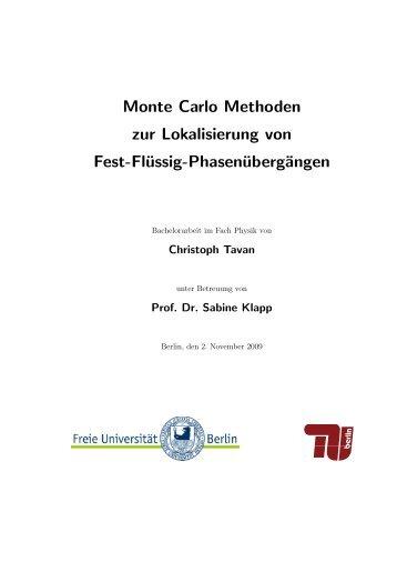 Bachelorarbeit, Christoph Tavan (PDF, 876,9 KB) - Institut für ...