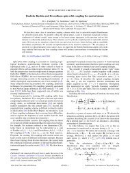 Realistic Rashba and Dresselhaus spin-orbit coupling for neutral ...