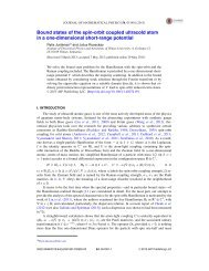 Bound states of the spin-orbit coupled ultracold atom in a one ...