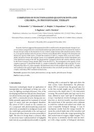 COMPLEXES OF FUNCTIONALIZED QUANTUM DOTS AND ...