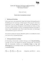 Druckverluste in hydraulischen Sytemen - Institut für Tribologie und ...