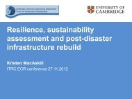 Resilience, sustainability assessment and post-disaster ... - ITRC