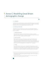 Annex C: Modelling Great Britain demographic change - ITRC