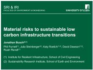 Material risks to sustainable low carbon infrastructure ... - ITRC