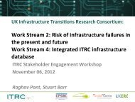 WS2: Risk of infrastructure failures in the present and future ... - ITRC