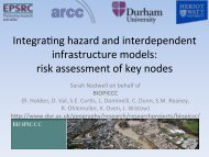 Integrating hazard and interdependent infrastructure models - ITRC