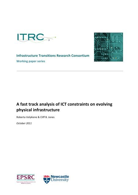 A Fast Track Analysis of ICT Constraints on Evolving Physical ... - ITRC