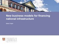 New Business Models for National Infrastructure Provision.pptx - ITRC