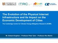 The evolution of the physical internet infrastructure and its ... - ITRC