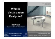 What is Visualization Really for? - the Oxford e-Research Centre ...