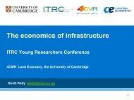 The economics of infrastructure - ITRC