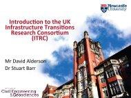 David Alderson's presentation - ITRC