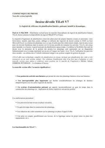 Inxéoz dévoile TiLoS V7 - ITRpress
