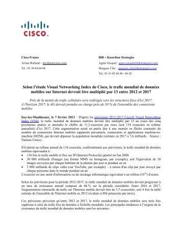 Le trafic mondial de données mobiles sur Internet devrait ... - ITRpress