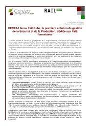 CEREZA lance Rail Cube, la première solution de ... - ITRpress