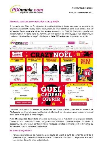 Pixmania.com lance son opération « Crazy Noël » - ITRpress