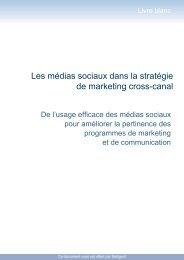 Les médias sociaux dans la stratégie de marketing cross ... - ITRpress