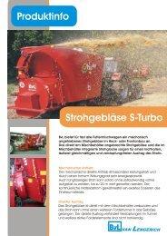 Strohgebläse S-Turbo Produktinfo - BvL Group