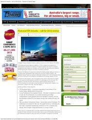 call for 2012 entries - Transport & Logistics News - ITS Australia
