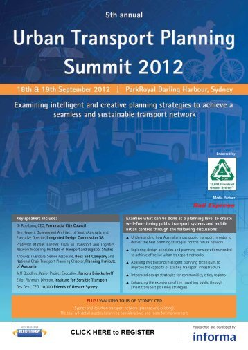 Urban Transport 2012 TS Brochure - ITS Australia
