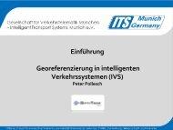 Einführung Georeferenzierung in intelligenten Verkehrssystemen (IVS)