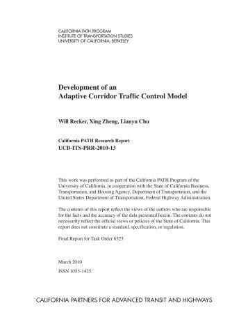 Development of an Adaptive Corridor Traffic Control Model