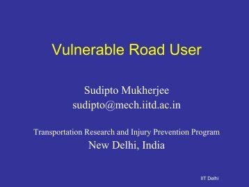 Vulnerable Road User - Institute of Transportation Studies