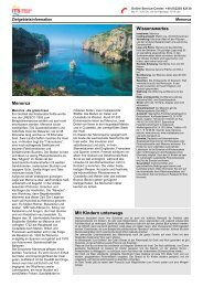 Zielgebietsinformation Menorca - Its