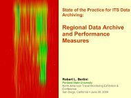 Regional Data Archive and Performance Measures - Portland State ...