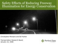 Safety Effects of Reducing Freeway Illumination for Energy ...