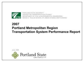 2007 Portland Metropolitan Region Transportation System ...
