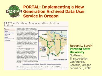 Title of the presentation. Supplemented by a subtitle. - Portland State ...
