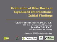 Initial Assessment of Portland's Green Bike Boxes