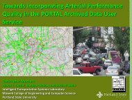 Toward Incorporating Arterial Performance Quality in the PORTAL ...