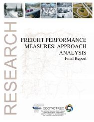 Oregon Freight Performance Measures - State of Oregon
