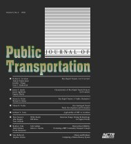 Journal of Public Transportation - Portland State University