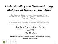 Understanding and Communicating Multimodal Transportation Data