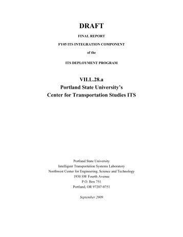 VII.L.28.a Portland State University's Center for Transportation ...