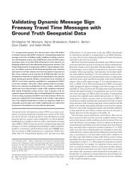 Validating Dynamic Message Sign Freeway Travel Time Messages ...