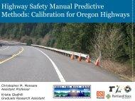 Highway Safety Manual Predictive Methods - Portland State University