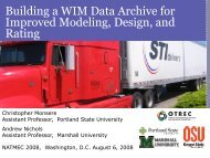 Building a WIM Data Archive for Improved Modeling, Design, and ...