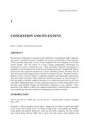 Congestion and Its Extent - Portland State University