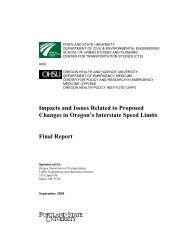 Impacts and Issues Related to Proposed Changes in Oregon